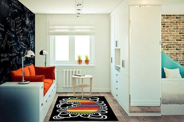 дизайн интерьера маленькой однокомнатной квартиры, фото 37