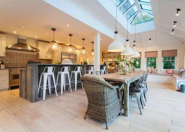 дизайн кухни гостиной, фото 22