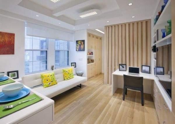 дизайн интерьера малогабаритной однокомнатной квартиры, фото 38