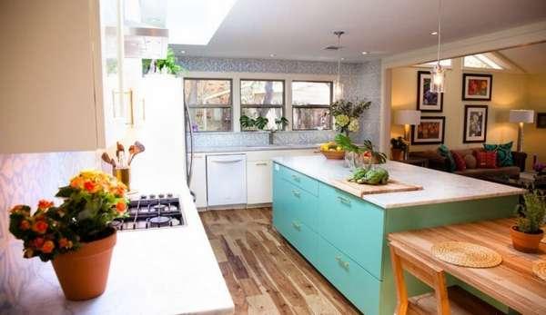 дизайн кухни и гостиной в одной комнате, фото 23