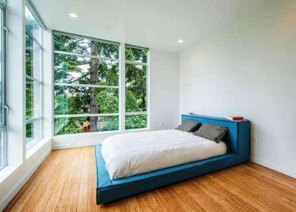 интерьер спальни с балконом, фото 33