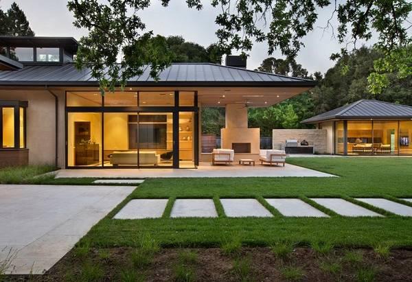 красивые одноэтажные дома с террасой, фото 67
