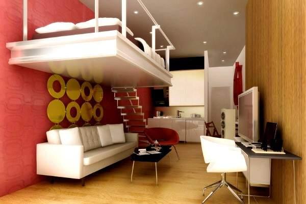 маленькая однокомнатная квартира дизайн интерьера, фото 39