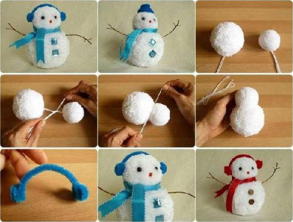 поделка снеговик своими руками, фото 27