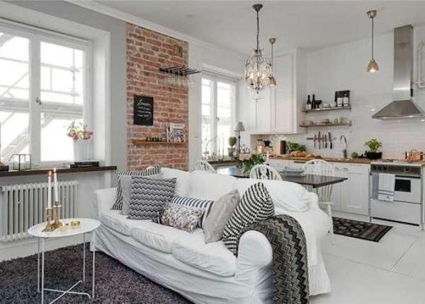 дизайн кухни гостиной малогабаритной, фото 24