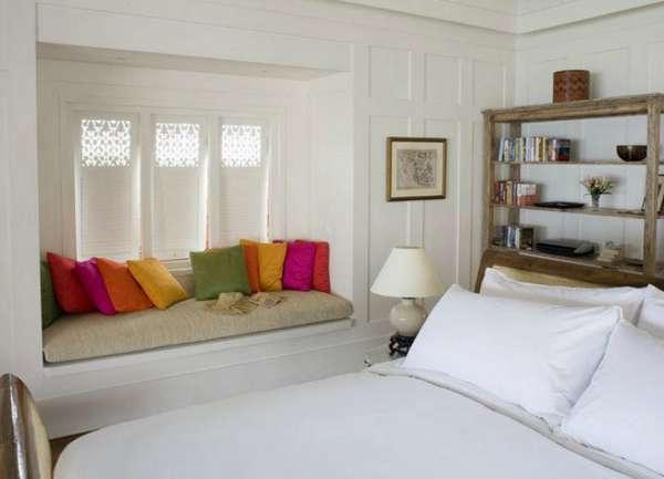 интерьер спальни с эркером, фото 72