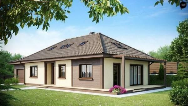 дизайн фасада одноэтажного дома фото, фото 24