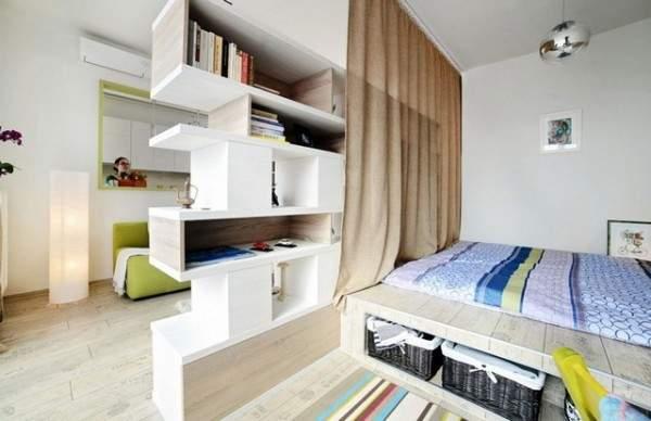 дизайн интерьера маленькой однокомнатной квартиры, фото 1