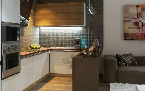 дизайн маленькой кухни гостиной, фото 26