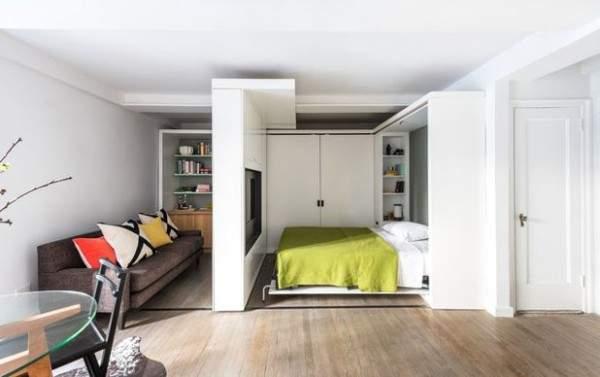 дизайн интерьера малогабаритной однокомнатной квартиры, фото 2