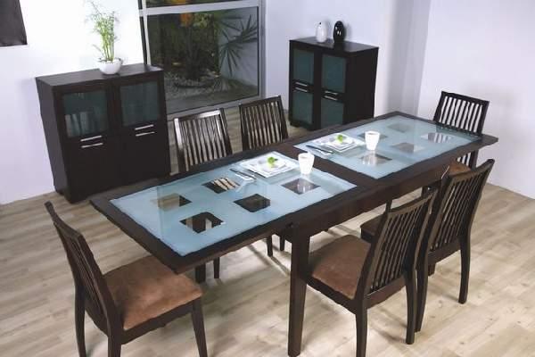 обеденный стол из стекла раскладной, фото 36
