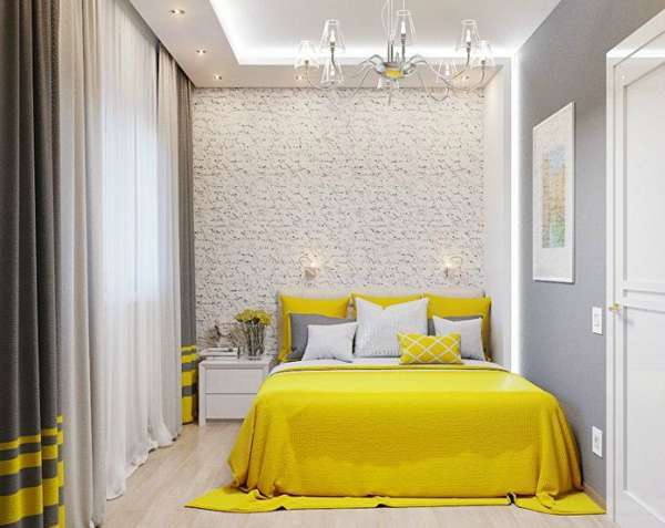 интерьер спальни в доме, фото 37