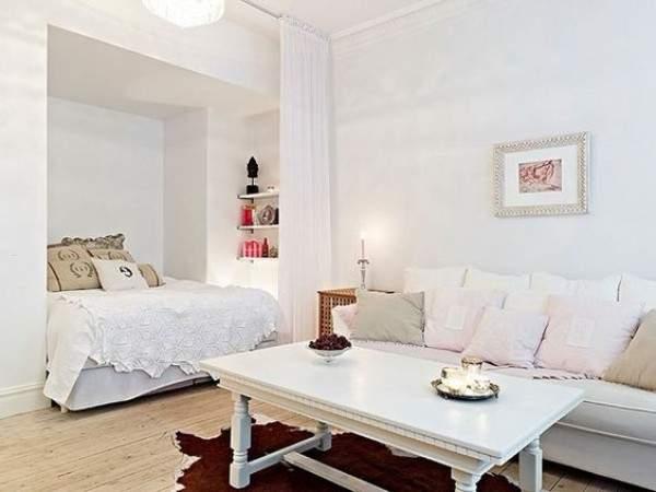 дизайн однокомнатной небольшой квартиры, фото 4