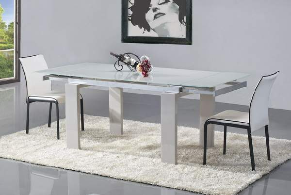 обеденный стол из стекла раскладной, фото 38