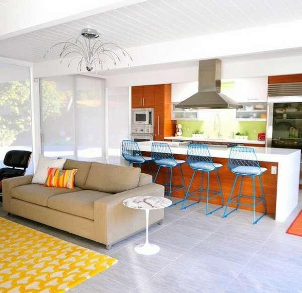 дизайн большой кухни гостиной, фото 2