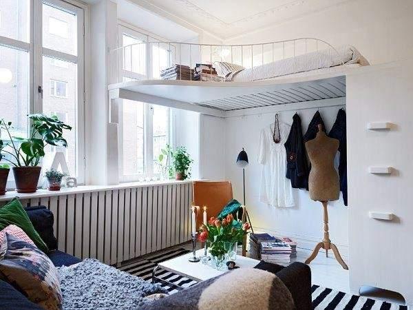дизайн интерьера маленькой однокомнатной квартиры, фото 5