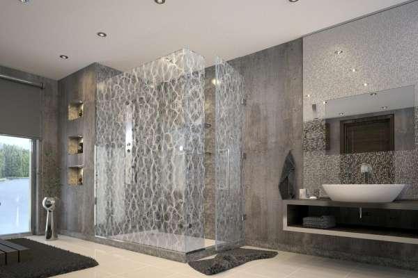 стеклянная дверь в душ, фото 29