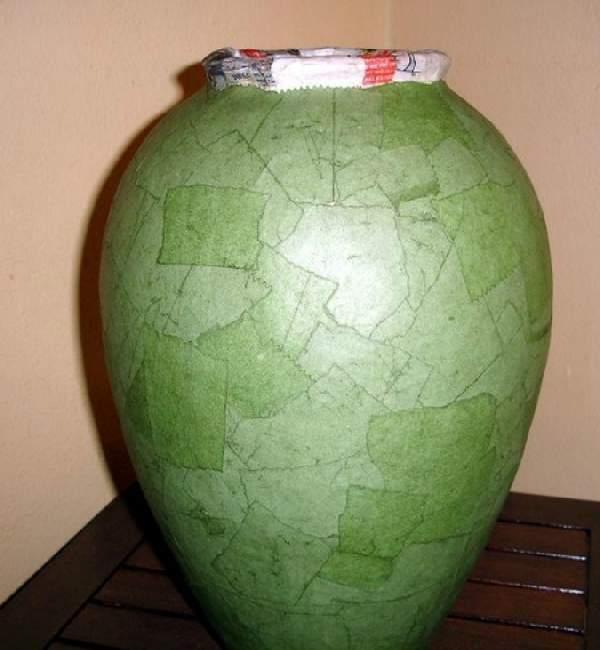 напольная ваза папье маше своими руками, фото 25