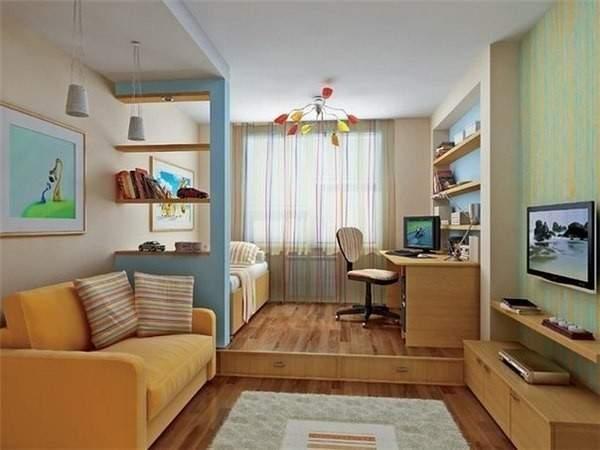 дизайн однокомнатной небольшой квартиры, фото 8