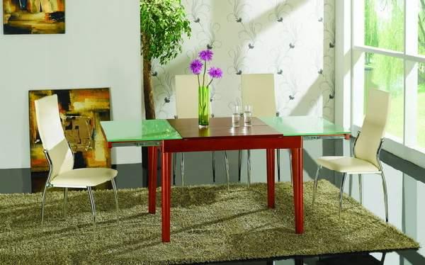 стол обеденный раскладной с ящиком, фото 49