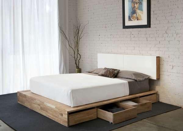 интерьер спальни минимализм, фото 59