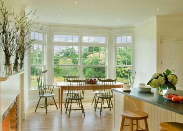 дизайн кухни гостиной с эркером, фото 34