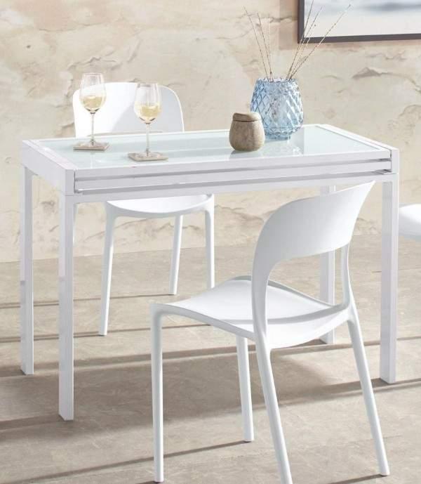 раскладной стеклянный стол для кухни, фото 57