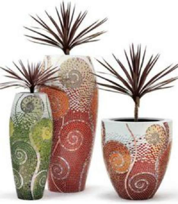 напольная ваза своими руками из картона, фото 69