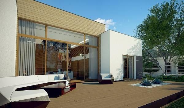 дизайн фасада частного одноэтажного дома, фото 44