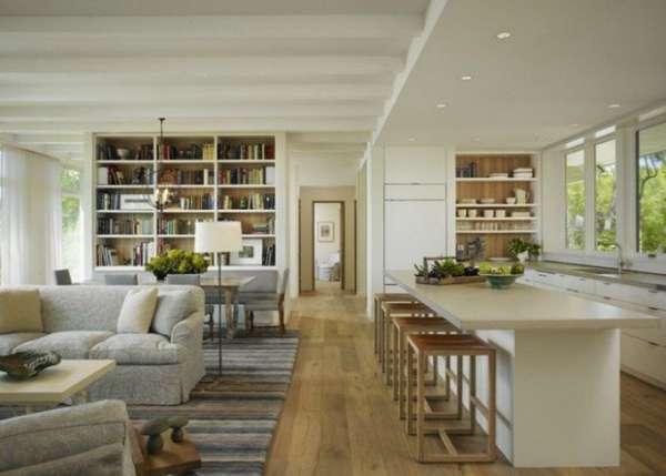 идеи дизайна кухни гостиной, фото 36