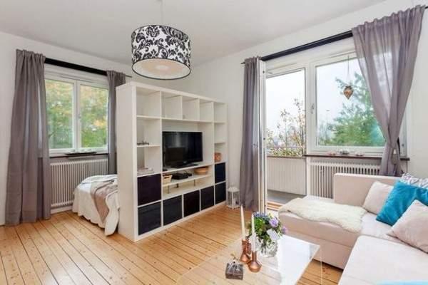 дизайн интерьера маленькой однокомнатной квартиры, фото 13
