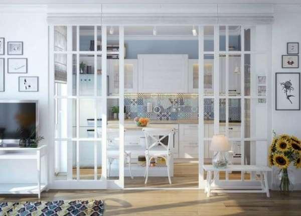 дизайн гостиной совмещенной с кухней, фото 37