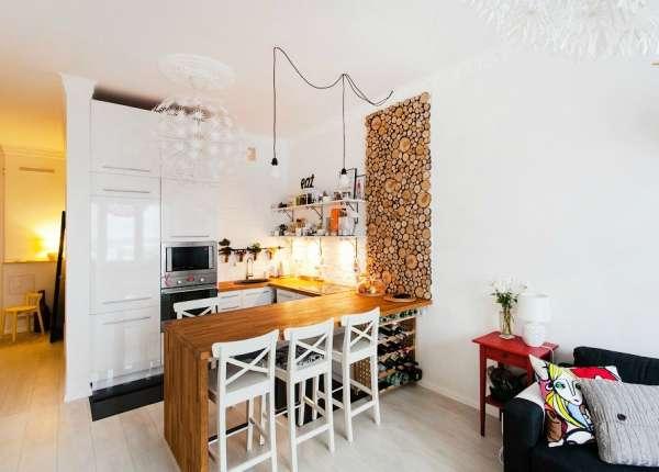 дизайн гостиной совмещенной с кухней в хрущевке, фото 3