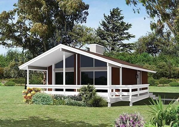 красивый одноэтажный дом с большими окнами фото, фото 84