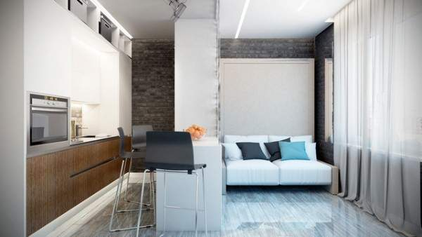 маленькая однокомнатная квартира дизайн интерьера, фото 15