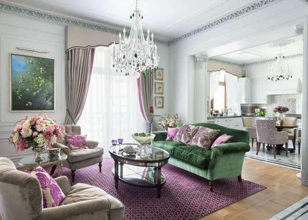 дизайн кухни гостиной в классическом стиле, фото 39