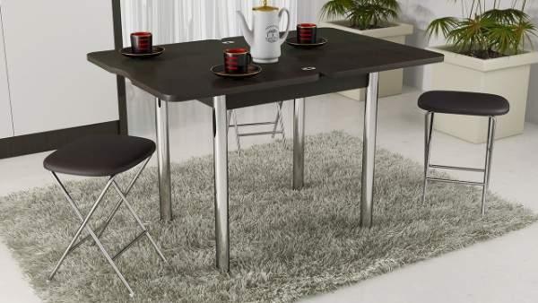 стол на кухню на одной ножке раскладной, фото 59