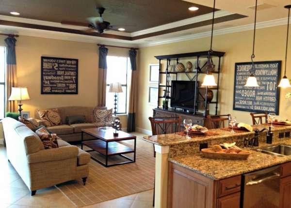 дизайн кухни гостиной, фото 40