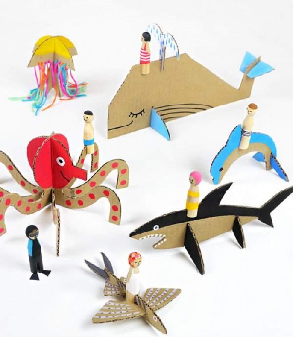 поделки из картона своими руками для детей, фото 8
