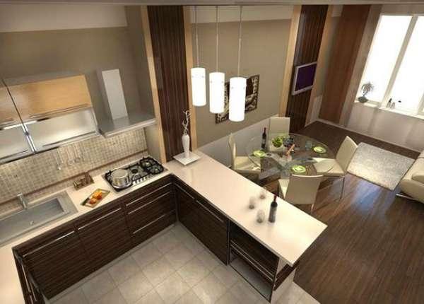 дизайн кухни гостиной в современном стиле фото, фото 41