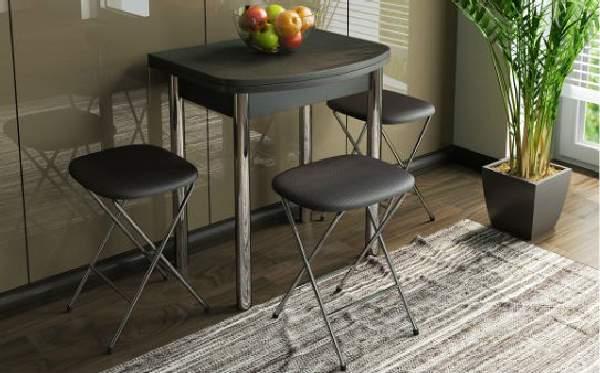стол на кухню на одной ножке раскладной, фото 40