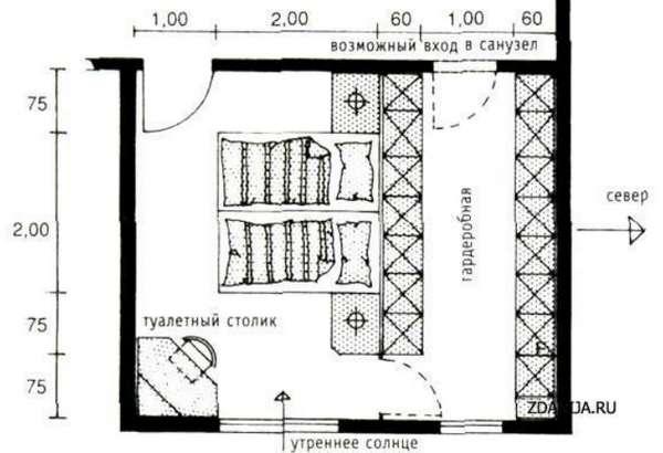 интерьер спальни, фото 18