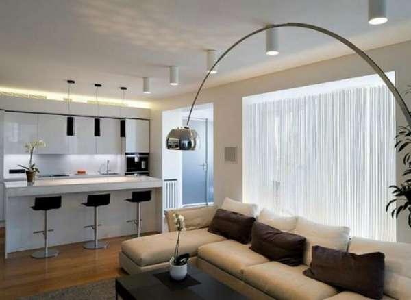 дизайн кухни гостиной в современном стиле фото, фото 42