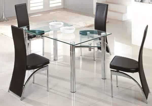 раскладной стеклянный стол для кухни, фото 5