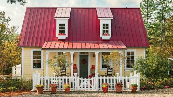 красивые одноэтажные дома с мансардой, фото 54