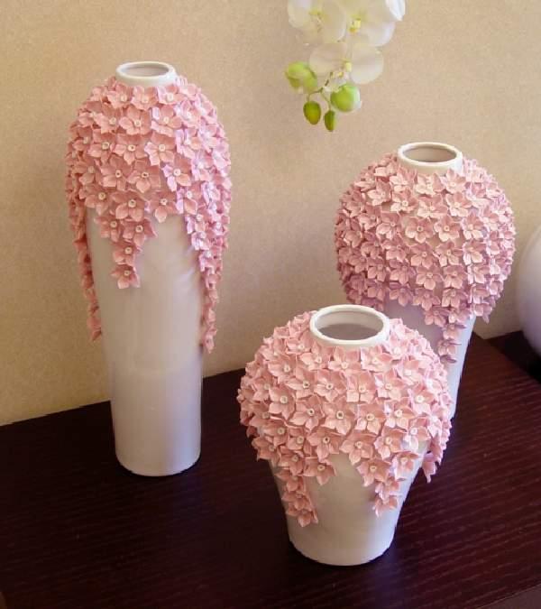 декор напольной вазы своими руками, фото 49