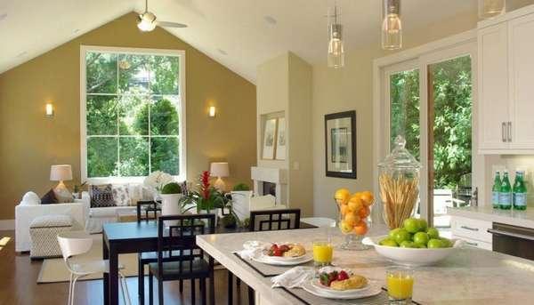 дизайн кухни гостиной, фото 4