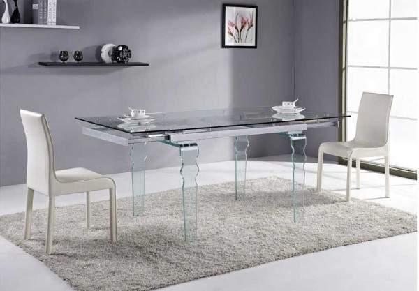 стол кухонный стеклянный раскладной, фото 12