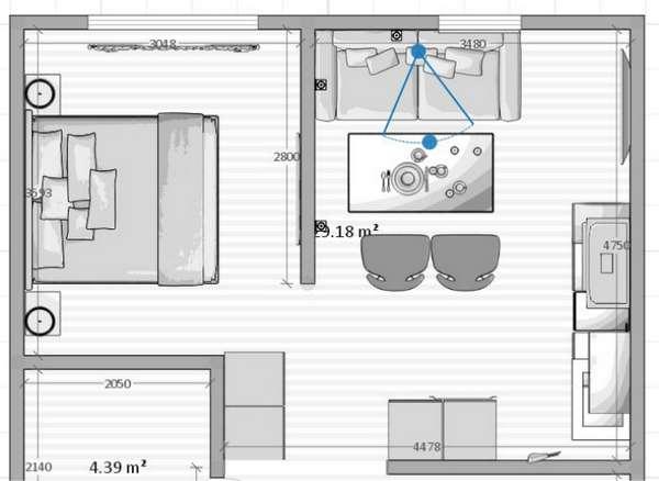 дизайн кухни студии совмещенной с гостиной, фото 59
