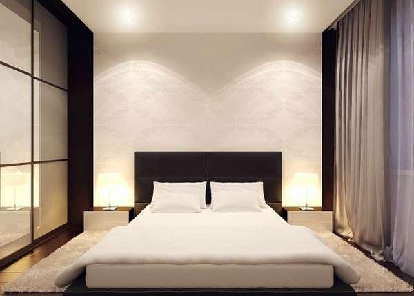 интерьер спальни минимализм, фото 60